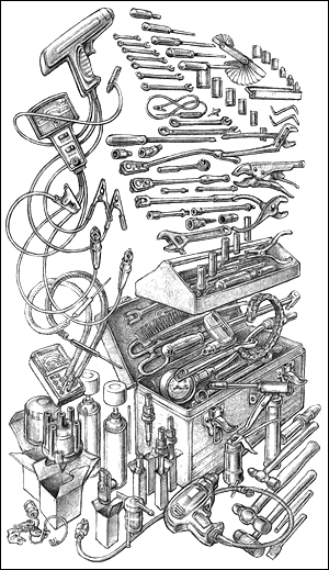 Toolbox drawing from the Datson Nissan Book