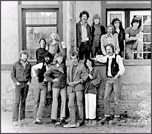 JMP folks in front of the office in the late 70s